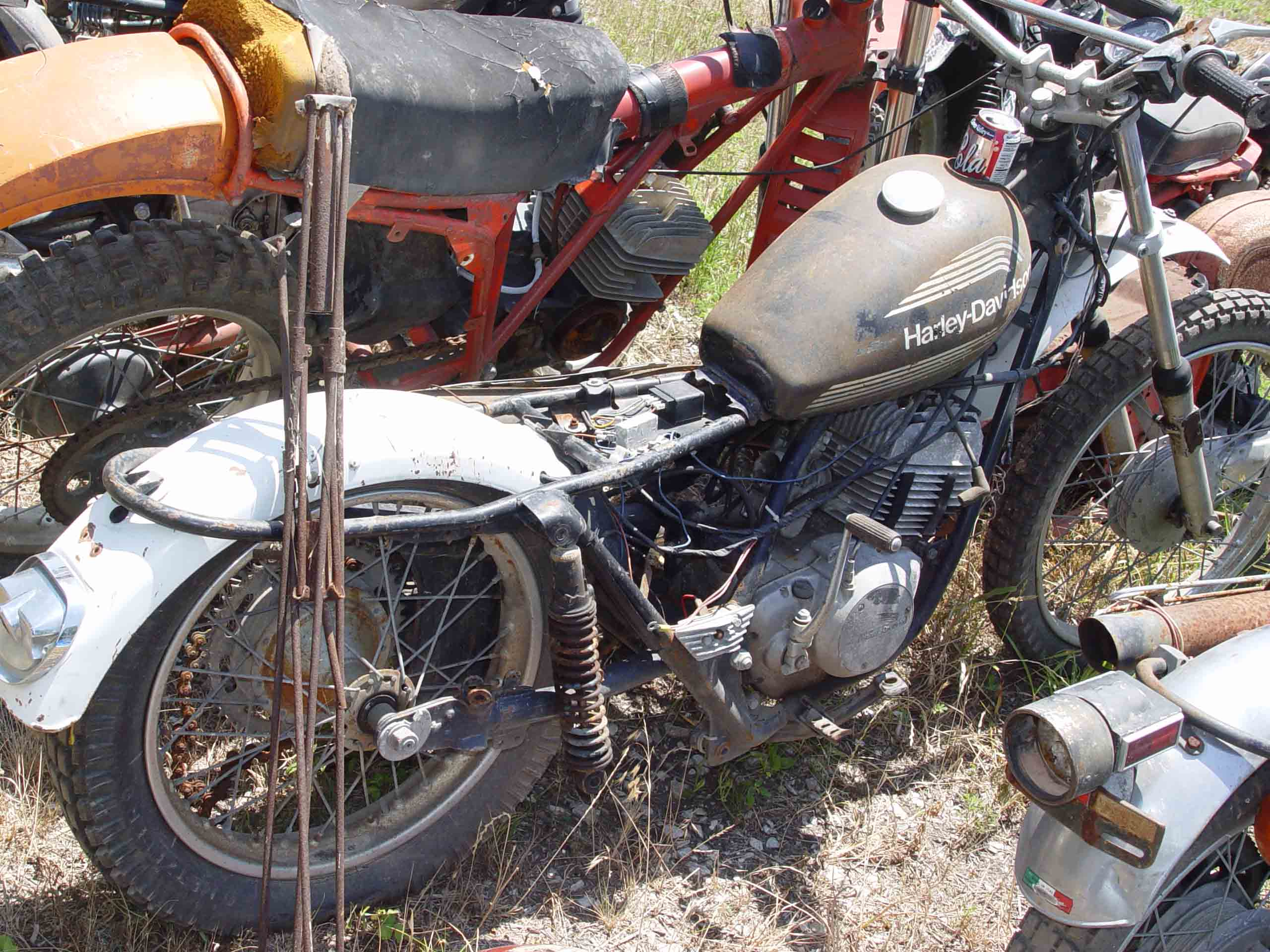 Motorcycle junk yard pictures to pin on pinterest pinsdaddy for Motor cycle junk yard